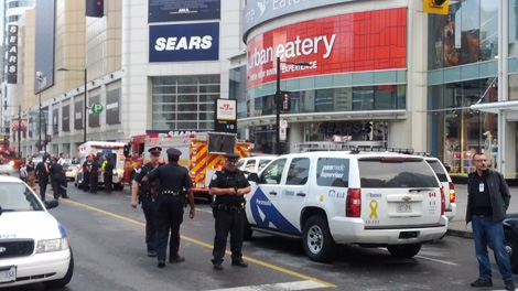 Police investigate after Eaton Centre shooting