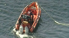 A Zodiac boat is shown much like the one two search and rescue volunteers who died were in on the Sunshine Coast of British Columbia.
