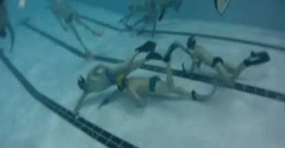 Underwater hockey is catching on at CAMO Club in Montreal.