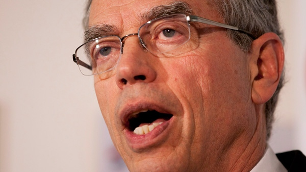 Natural Resources Minister Joe Oliver speaks during a news conference in Gatineau, Que