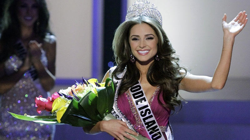 Miss Rhode Island Olivia Culpo waves to the audience after being crowned Miss USA during the 2012 Miss USA pageant, Sunday, June 3, 2012, in Las Vegas. On Wednesday night she was crowned Miss Universe.