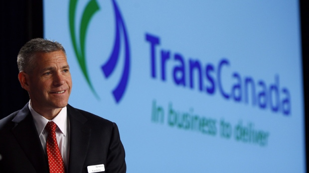 Russ Girling, president and CEO of TransCanada Corp., addresses the company's annual meeting in Calgary, Friday, April 27, 2012.THE CANADIAN PRESS/Jeff McIntosh