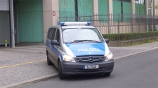A van transports Luka Magnotta from police station to detention facility where he will be held pending extradition in Berlin on Tuesday, June 5, 2012. (Ben O'Hara-Byrne / CTV News)