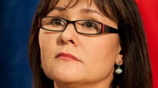 Minister of Health Leona Aglukkaq announces a product used in the drug 'bath salts' will be made illegal during a news conference in Ottawa, Tuesday, June 5, 2012. (Adrian Wyld / THE CANADIAN PRESS)
