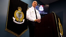 Vancouver Police Deputy Chief Warren Lemcke speaks during a news conference after a human hand was delivered to a school and a human foot to another in Vancouver, B.C., on Tuesday, June 5, 2012.