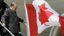 Algerian President Abdelaziz Bouteflika arrives in advance of the G8 and G20 Summit at Pearson International Airport in Toronto, Thursday, June 24, 2010. (AP / Gerry Broome)