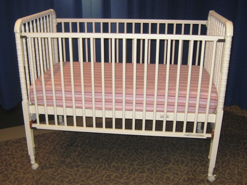 This undated handout photo provided by the Consumer Products Safety Commission (CPSC) shows a Delta crib. More than 2 million cribs from seven companies were recalled Thursday amid concerns that babies can suffocate, become trapped or fall from the cribs. (AP Photo/CPSC)
