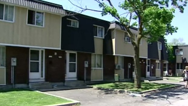 The housing complex in the east end of Ottawa where police investigated an alleged case of human trafficking is seen in this photo. (CTV Ottawa)