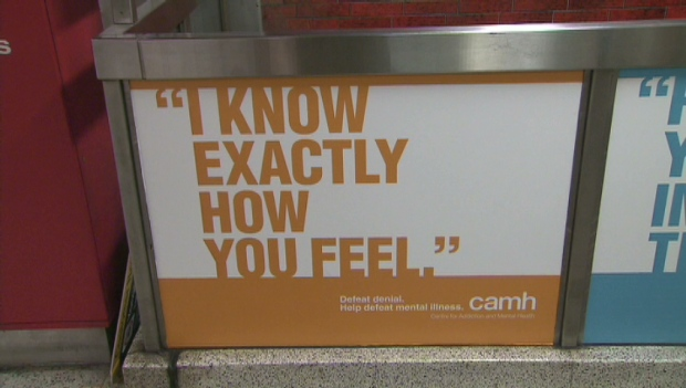 An ad for the Centre for Addiction and Mental Health is seen in this undated image.
