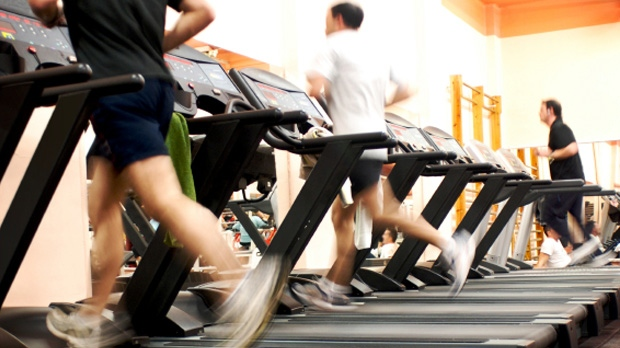 File image of people running on the treadmill.