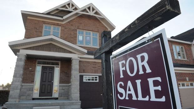A new construction development offers real estate options for sale in the west end of Ottawa. (Sean Kilpatrick / The Canadian Press)