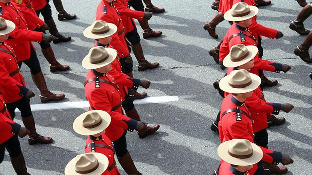 RCMP Marching