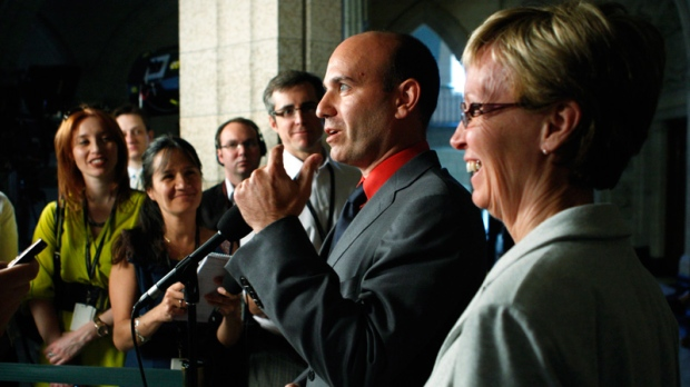NDP MPs Nathan Cullen, and Nycole Turmel