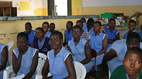 Bakery students at the Pader Girls Academy in Pader, Uganda. Every one of these girls has at least one child. (Darcy Wintonyk/ CTV)
