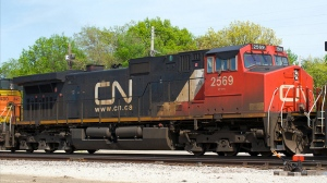 A man in a wheelchair was killed when he was struck by a CN train on a railway crossing in Moncton.