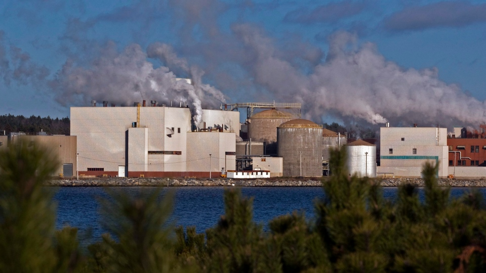 The Bowater Mersey paper mill is seen in Brooklyn, N.S. on Friday, Dec. 2, 2011.