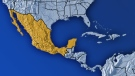Mexico is shown in this map.