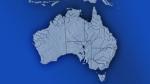A map of Australia.