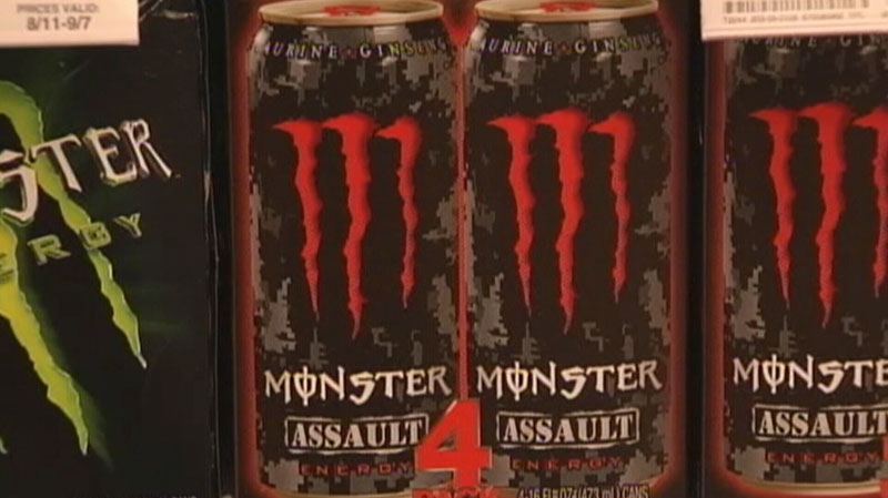 New Health Canada regulations mean caffeine-laden energy drinks will soon be required to include nutritional facts tables. June 15, 2012. (CTV)