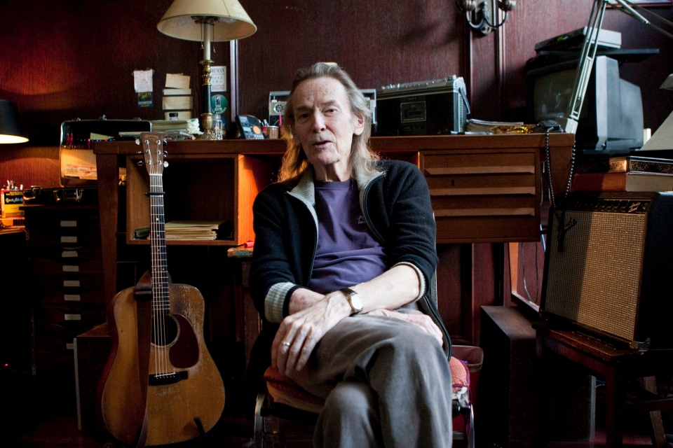 Canadian singer-songwriter Gordon Lightfoot is pictured at his Toronto home on Thursday, April 12, 2012 as he promotes his new album