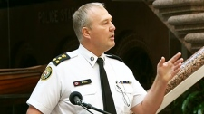 Toronto Police Chief Bill Blair takes questions from the media during a press conference on Tuesday, June 29, 2010.