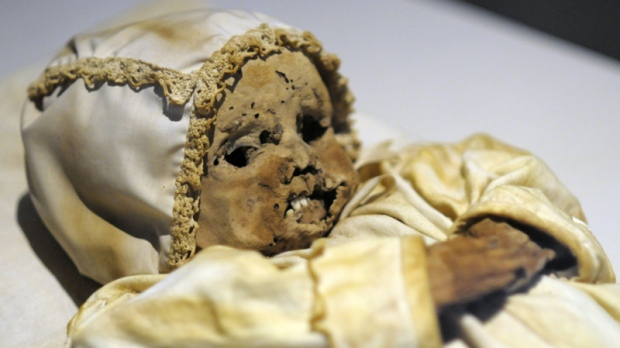 Exhibit includes 6,400-year-old mummified baby | CTV News