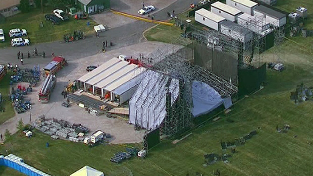 One dead, several injured after a massive stage collapse in Toronto