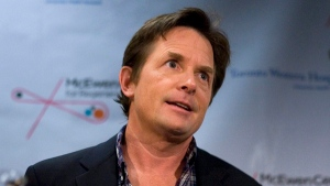 Actor Michael J. Fox attends a news conference at the University Health Network in Toronto on Thursday September 24, 2009. (Chris Young / THE CANADIAN PRESS)