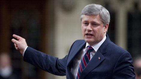 Prime Minister Stephen Harper responds to a question during question period in the House of Commons on Parliament Hill in Ottawa on Tuesday, June 15, 2010. (THE CANADIAN PRESS/Sean Kilpatrick)