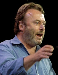 In this Sept. 14, 2005 photo, British essayist Christopher Hitchens speaks during a debate in New York. (AP Photo / Chad Rachman)