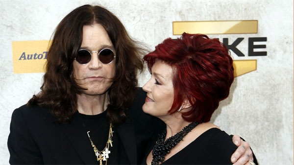 "Ozzy Osbourne, left, and Sharon Osbourne arrive at Spike TV ""Guy's Choice"" awards in Culver City, Calif., on Saturday, June 5, 2010. (AP Photo/Matt Sayles)"