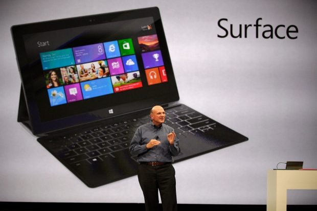 Microsoft CEO Steve Ballmer unveils 'Surface,' a new tablet computer to compete with Apple's iPad