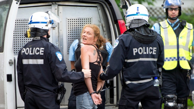 Protester arrested at Montreal Grand Prix