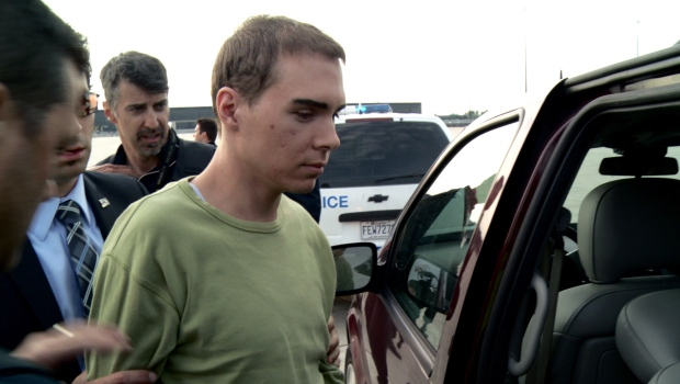 Luka Rocco Magnotta/ Eric Clinton Newman arrives in Montreal