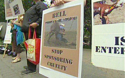 Calgary Stampede protest