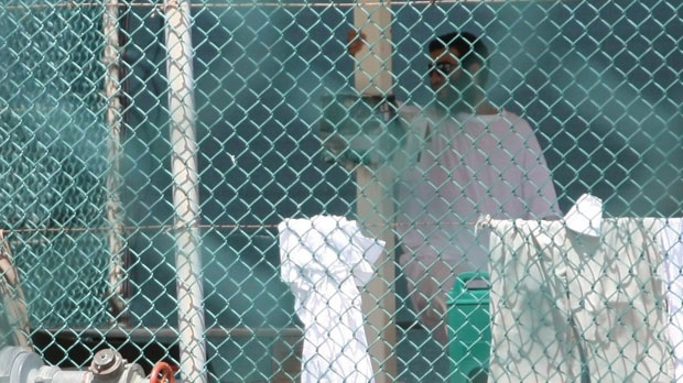 Omar Khadr is seen in Guantanamo Bay's Camp 4 on Saturday, Oct. 23, 2010. (The Canadian Press/Colin Perkel)