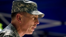 Gen. David Petraeus, the new commander of U.S. and NATO forces in Afghanistan, speaks during a ceremony in which he formally assumed the command in Kabul, Afghanistan, Sunday, July 4, 2010. (AP / Dusan Vranic)