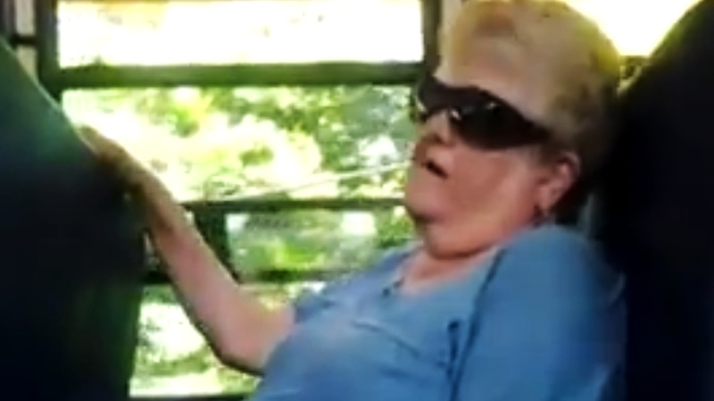 Karen Klein, 68, is seen trying her best to ignore the stream of profanity, insults and outright threats directed at her in a 10-minute cellphone video recorded by one of the students and posted to YouTube.