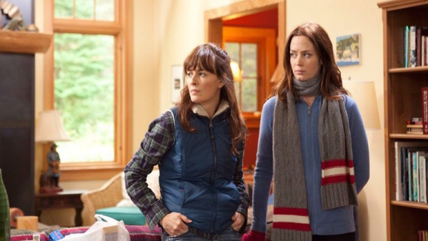Rosemarie DeWitt, left, and Emily Blunt