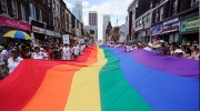 People take part in the annual Pride Parade in Toronto on Sunday, July 3, 2011.  (The Canadian Press/Ian Willms)