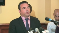 Toronto city councillor Giorgio Mammoliti announces he is dropping out of the mayoral race, Monday, July 5, 2010.