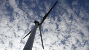 A wind turbine is seen In this Oct. 27, 2011 photo. (AP Photo/Toby Talbot)