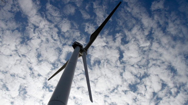 In this Oct. 27, 2011 photo, a wind turbine is seen at the First Wind project in Sheffield, Vt. (AP Photo/Toby Talbot)