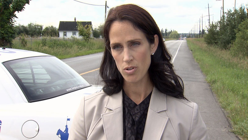 Sgt. Jennifer Pound says the Integrated Homicide Investigation Team has taken over the investigation into the death of a man in a Langley home early Saturday morning. June 23, 2012. (CTV)