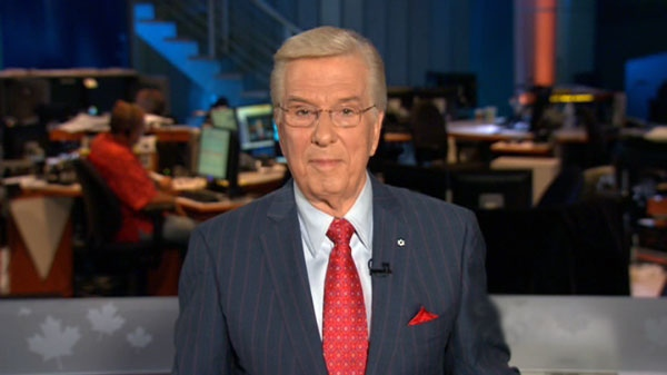 Chief Anchor and Senior Editor Lloyd Robertson announces he will vacate his anchor chair at CTV News in 2011, on Thursday, July 8, 2010.
