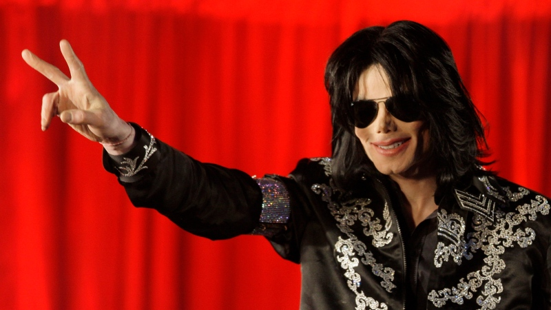 In this March 5, 2009 file photo, U.S. singer Michael Jackson speaks at a press conference at the London O2 Arena. (AP / Joel Ryan, File)