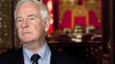 David Johnston makes brief remarks outside the Senate on Parliement Hill in Ottawa, Thursday, July 8, 2010. (Adrian Wyld / THE CANADIAN PRESS)