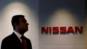 Nissan President and CEO Carlos Ghosn speaks during the opening ceremony for the new office in Hong Kong Tuesday, May 22, 2012. (AP / Kin Cheung)