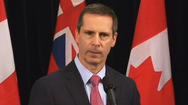 Ontario Premier Dalton McGuinty speaks to reporters about the Elliot Lake, Ont., rescue efforts on Tuesday, June 26, 2012.