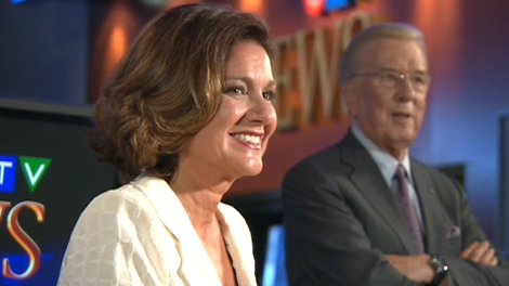 Lisa LaFlamme is introduced to media following the formal announcement naming her as the new anchor for CTV National News, in Toronto, Friday, July 9, 2010.